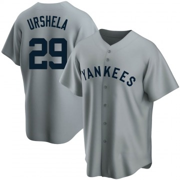Replica Gio Urshela Youth New York Yankees Gray Road Cooperstown Collection Jersey