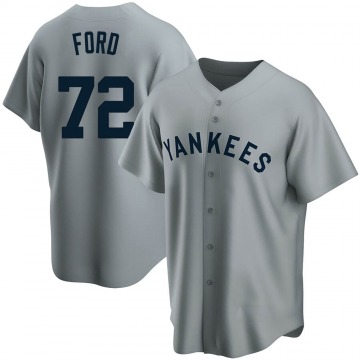 Replica Mike Ford Men's New York Yankees Gray Road Cooperstown Collection Jersey